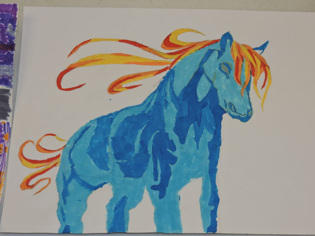 Horse art for Saratoga contest